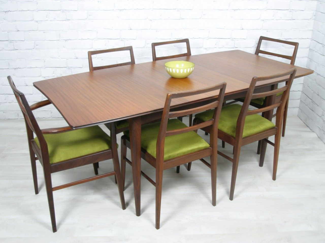 Vintage Afromosia Table 6 Chairs Designed By Richard Hornby