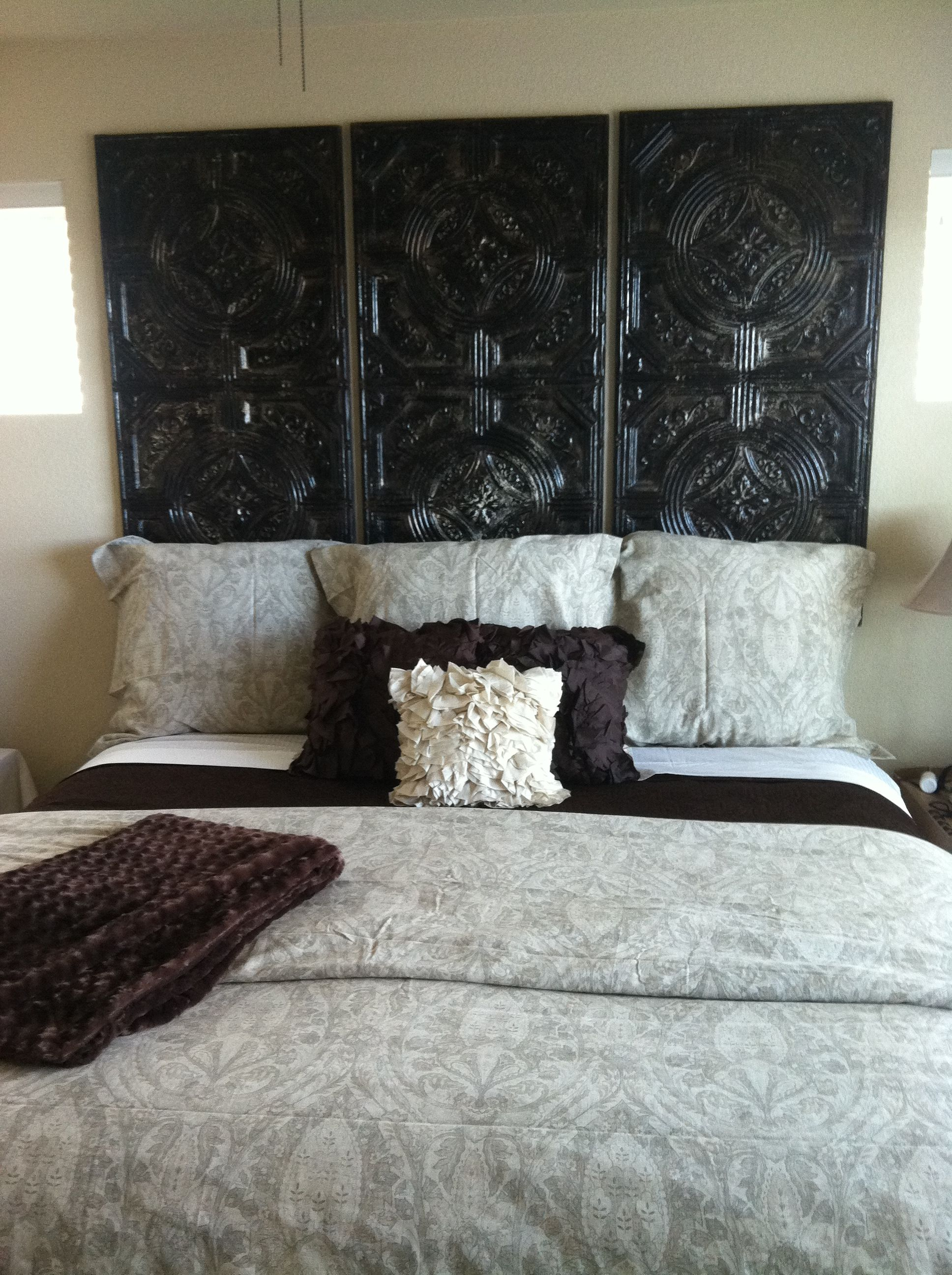 Decorating With Tin Ceiling Tiles Fun Headboard Recovered What Creative Projects
