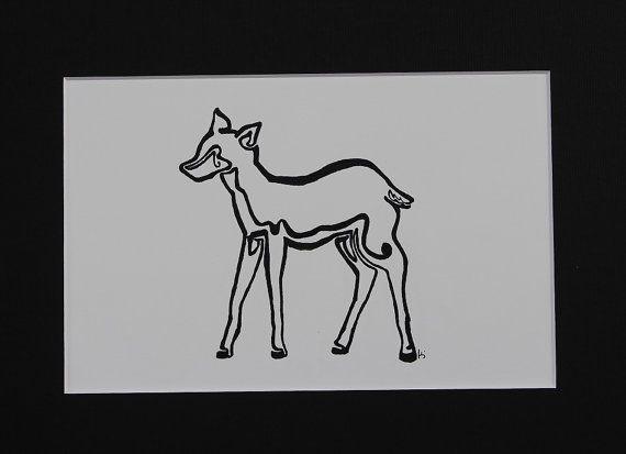Line Drawing Deer : Continuous line drawing goulash of art deer