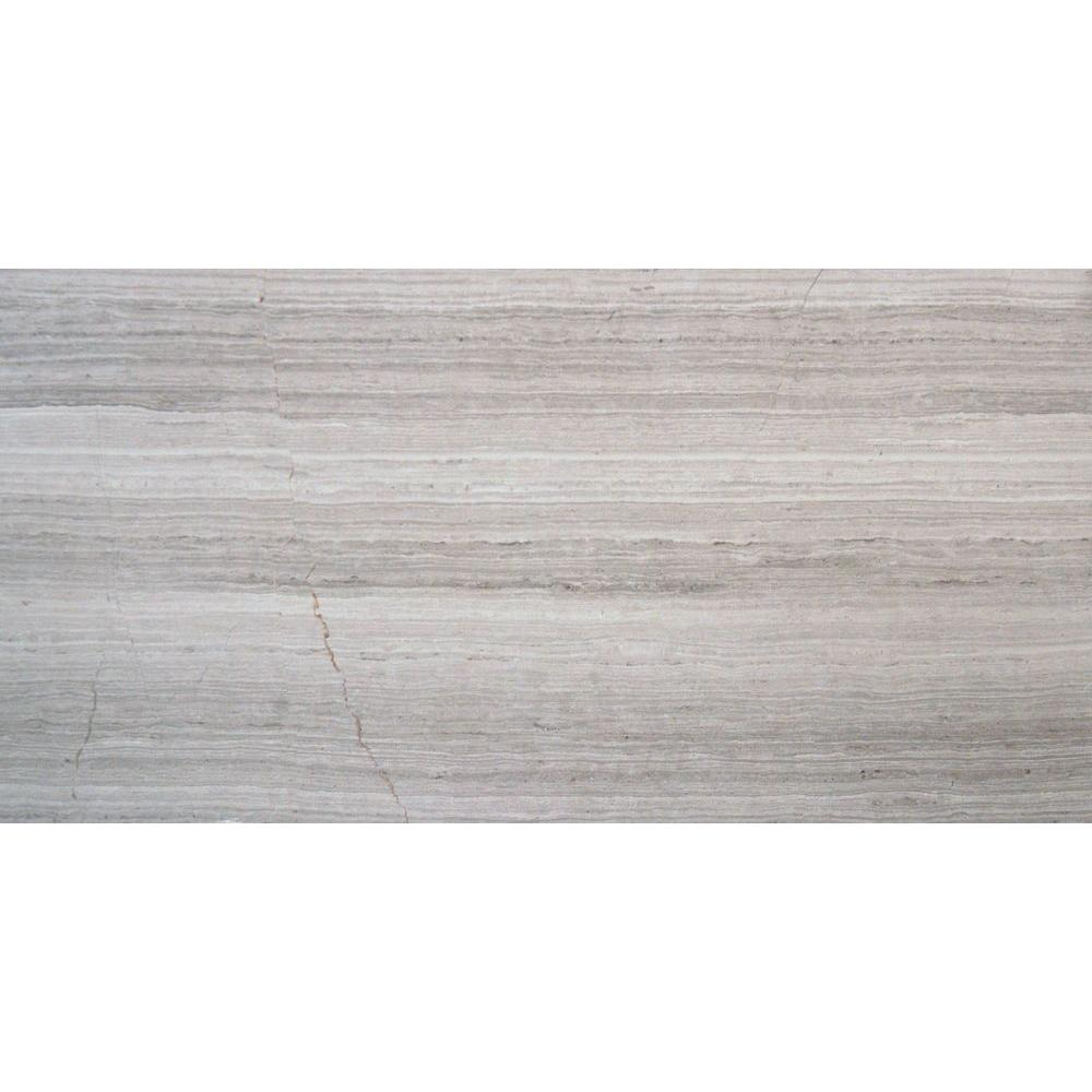 Msi 12 In X 24 In White Oak Polished Limestone Floor And Wall Tile 10 Sq Ft Case Twhtoak12240 38p Limestone Flooring Porcelain Flooring Honed Marble Floor