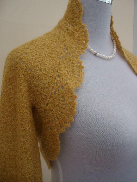 Bolero hääpuvun kaveriksi? Etsy; Hand knitted Wedding Bridal Kid by GrazinasKnitwear