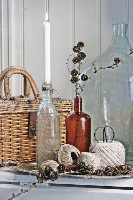 VIBEKE DESIGN: Vakker høst i brunt og blått!