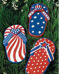 Usa Flip Flops Patriotic Red White And Blue Stars And