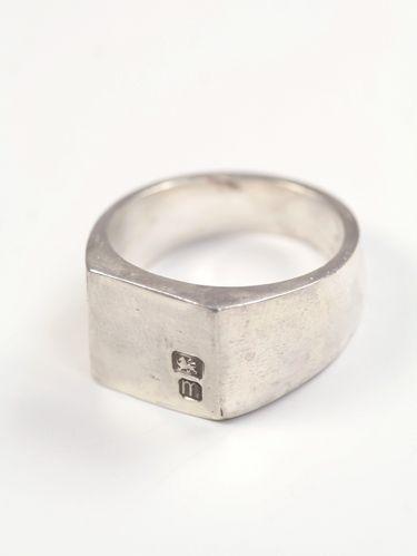 Mens Square Signet Ring Hallmarked Signet Ring Men Mens Silver