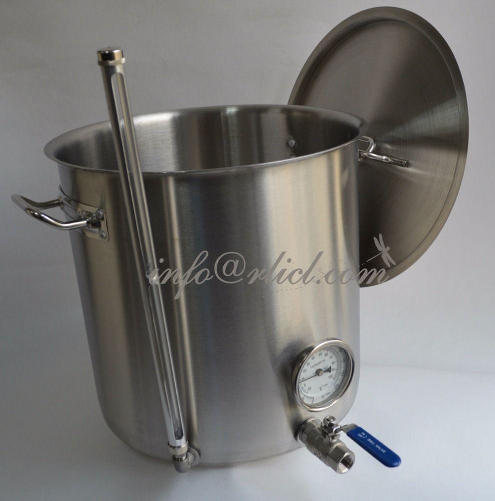 R & L Cerveja Artesanal/Vinificação Cerveja Fermentação do Alimento Grau Forte Pote Chaleira de Aço Inoxidável 20/32/40/60/80/100 Litro de Bebidas