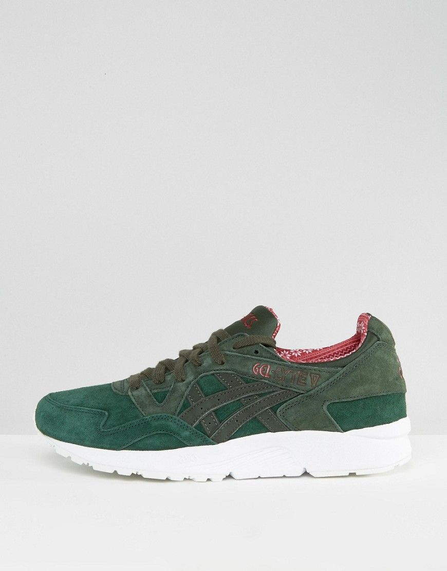 Asics Gel-Lyte V Holidays Pack Sneakers In Green H6R2L 8082 - Green