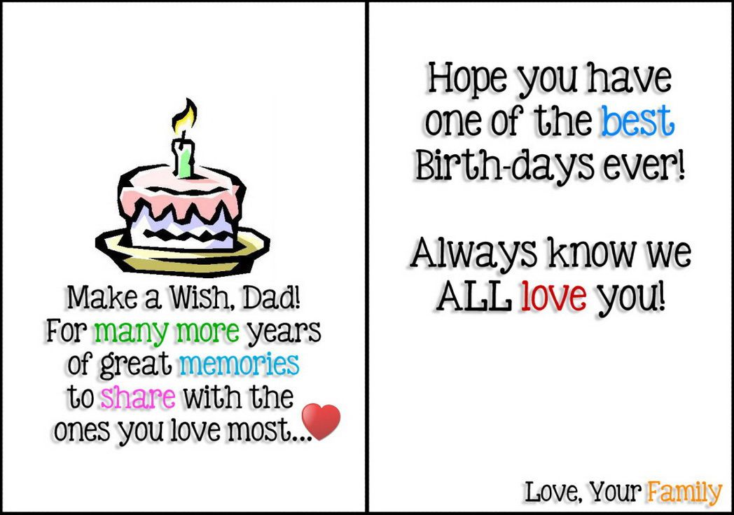 printable birthday card for dad - Google Search