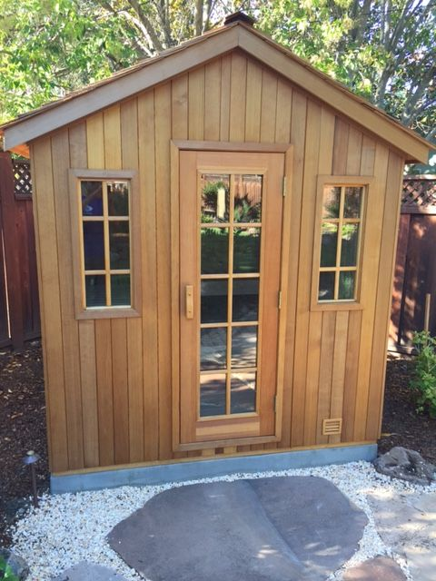 Finnleo outdoor patio sauna hot tubs and saunas for Cost to build a sauna
