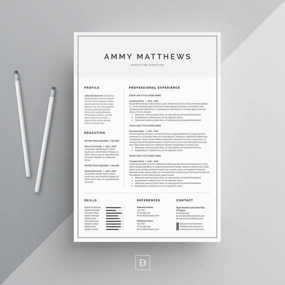 resume template 2 page