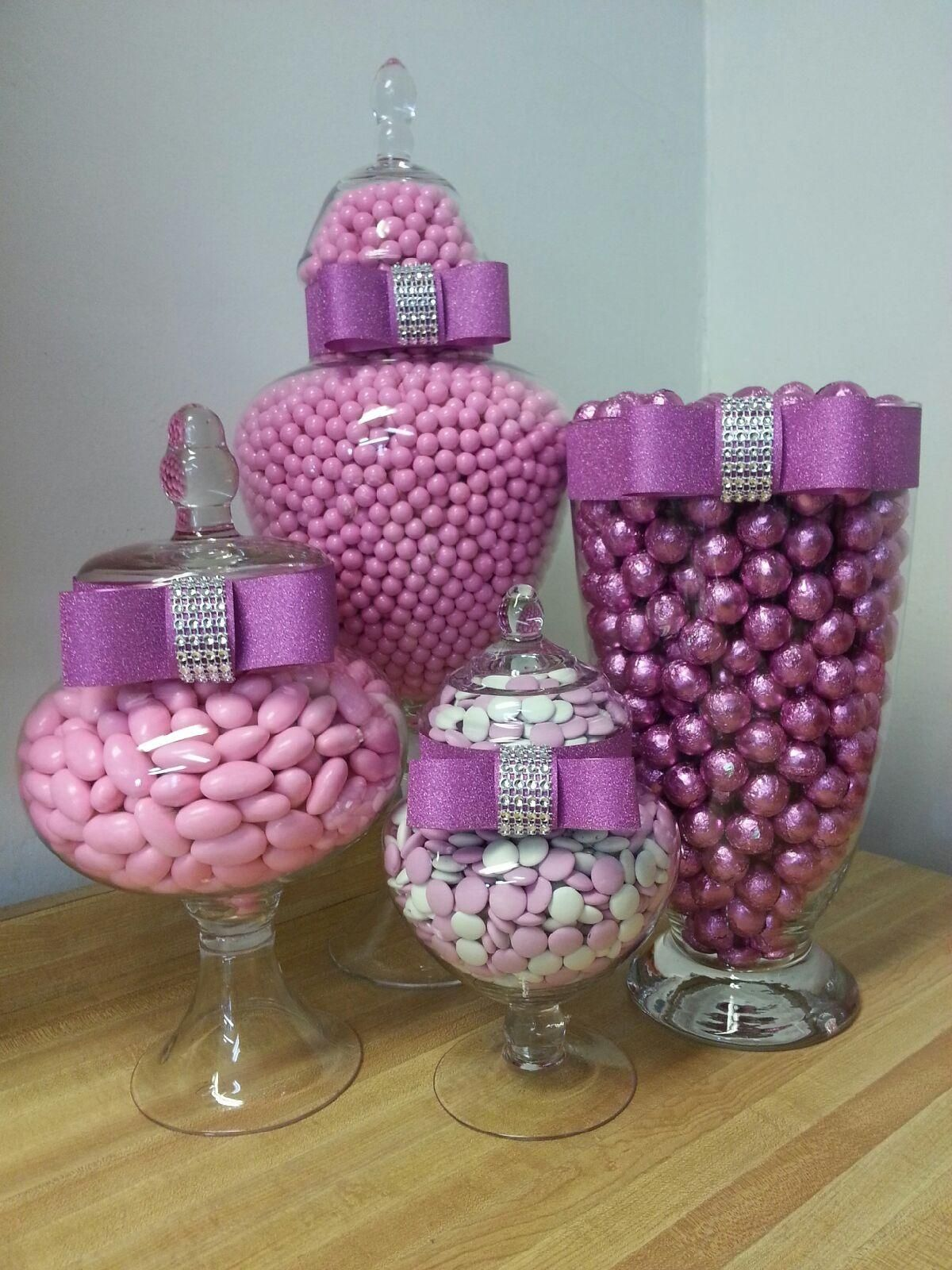 candy buffet in any color you want this could be a dressy idea for adults if