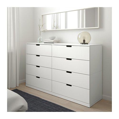 Best Nordli 8 Drawer Dresser White 63X39 White Bedroom 400 x 300