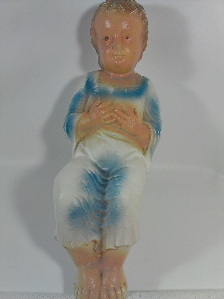 "Vintage Empire Blowmold Baby Jesus Blow Mold Nativity Manger Yard Decor 17"""