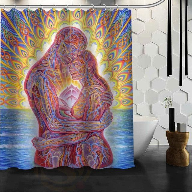Alex Grey Art Sacred Geometry Mandala Shower Curtain Mandala