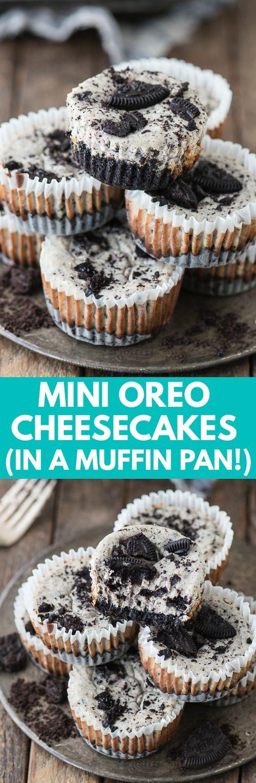 Mini Oreo Cheesecakes Recipe In 2018 Food Pinterest Desserts