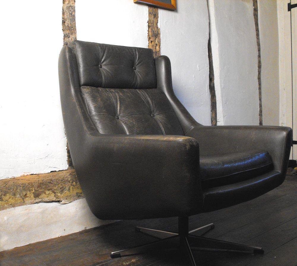 Super Antiques Atlas Vintage Leather Swivel Bucket Chair Customarchery Wood Chair Design Ideas Customarcherynet