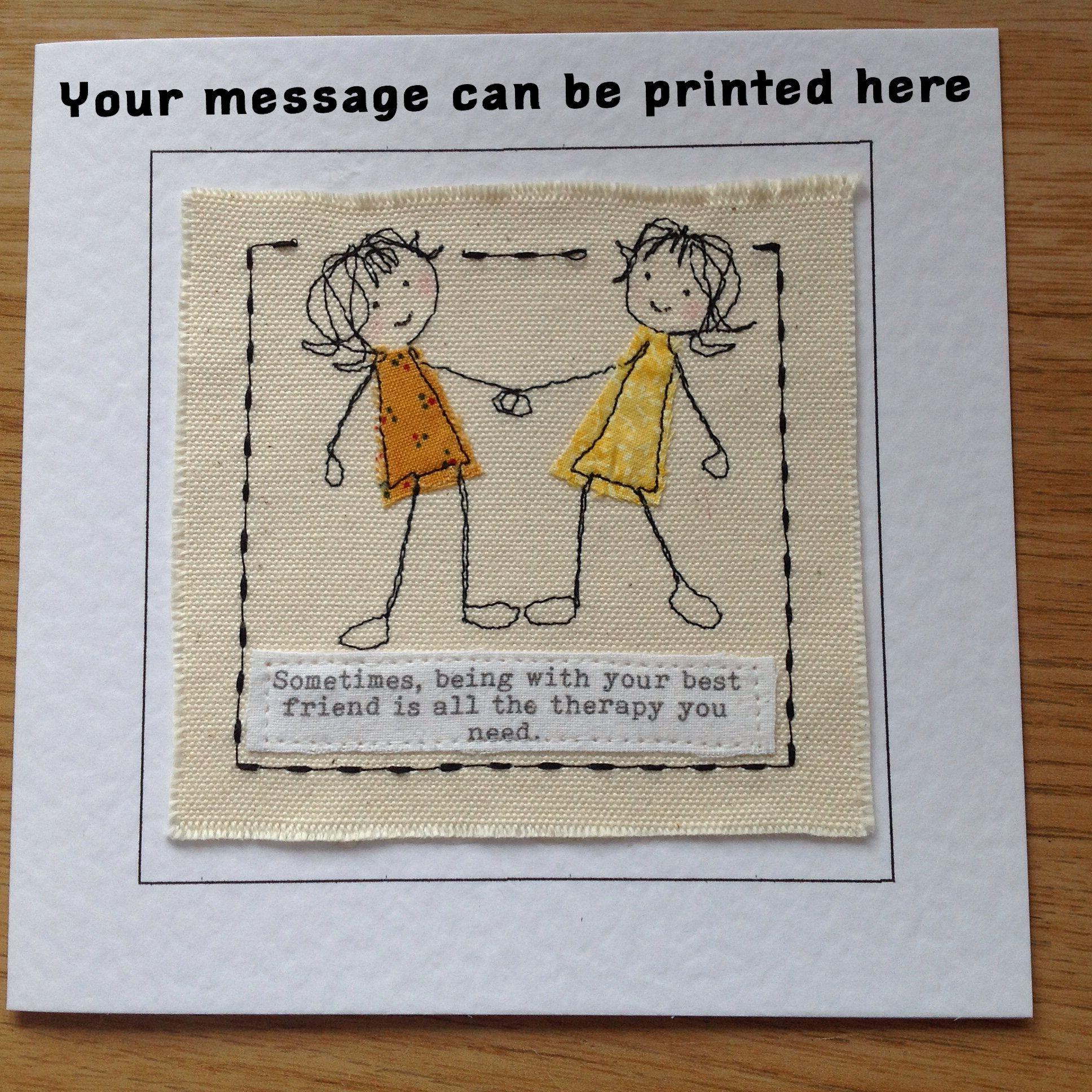 Best Friend Birthday Card Get Well BFF CardHandmade Personalised For Girlfriend