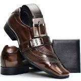 ddbd1f5102 Sapato Cinto Social Masculino Couro Legítimo Dhl Kit Promo - R  120 ...