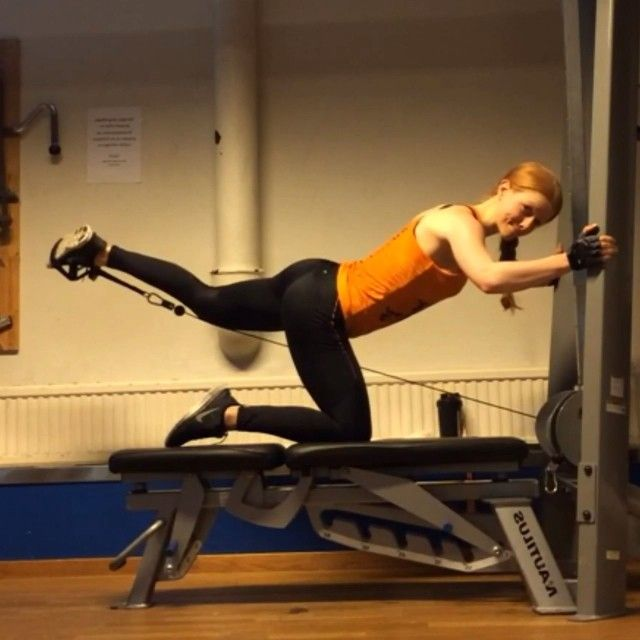 Kickbacks v 2.0. Slightly twist your hip to activate the outside of your glutes even more.. & of course, 120% focus