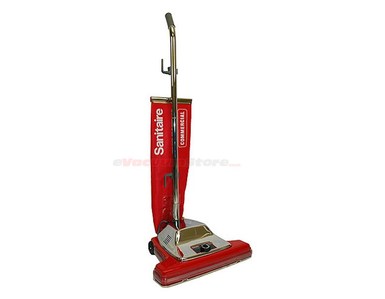 The Sanitaire Sc899 Commercial Vacuum Cleaner Features An Extra Wide 16 Inch Cleaning Path Plus San Vacuum Cleaner Commercial Vacuum Cleaners Commercial Vacuum