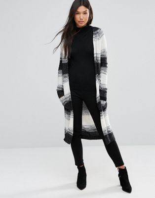 QED London Striped Longline Cardigan With Front Pockets | winter ...
