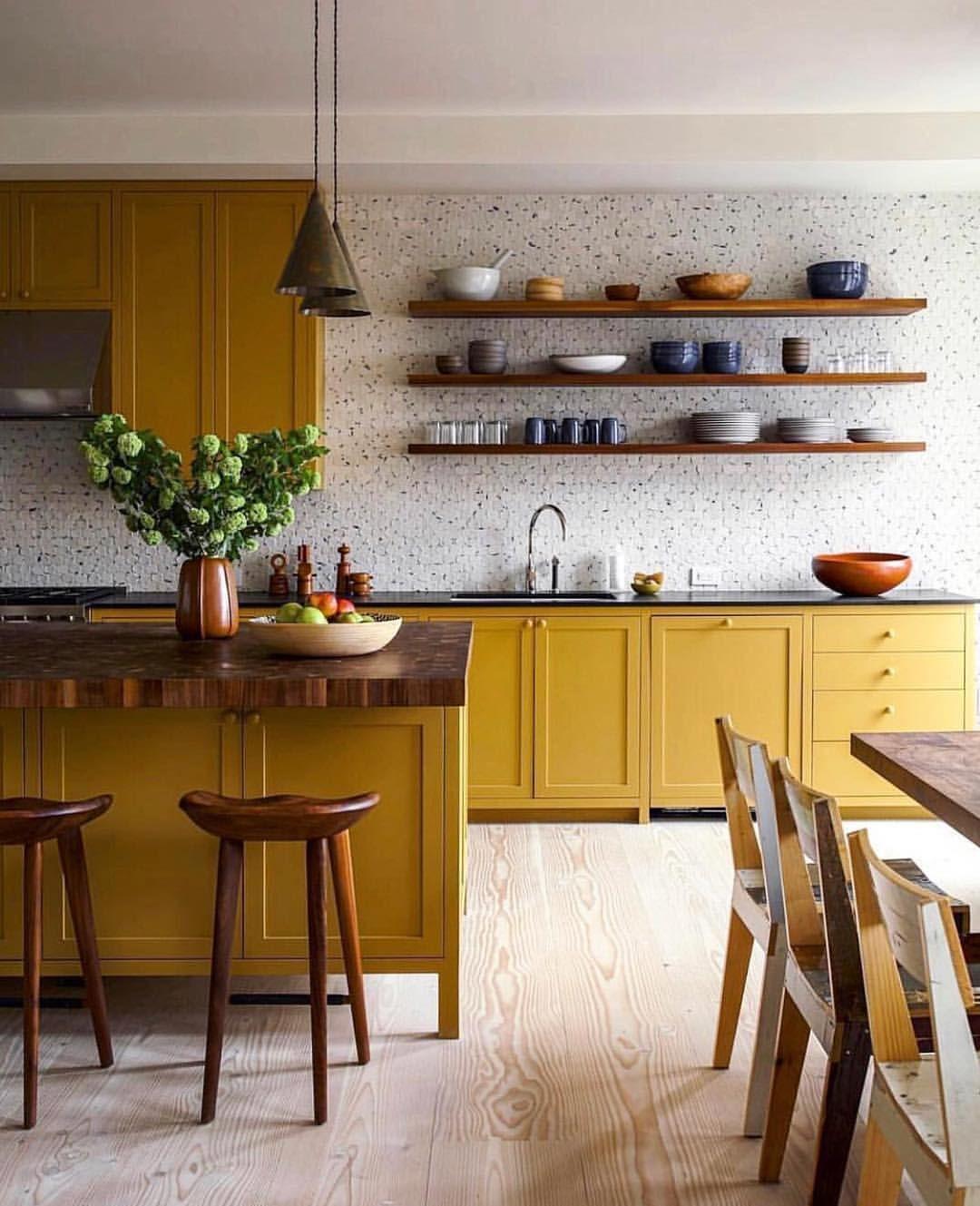 Idée décoration intérieure maison - déco cuisine ouverte - moderne