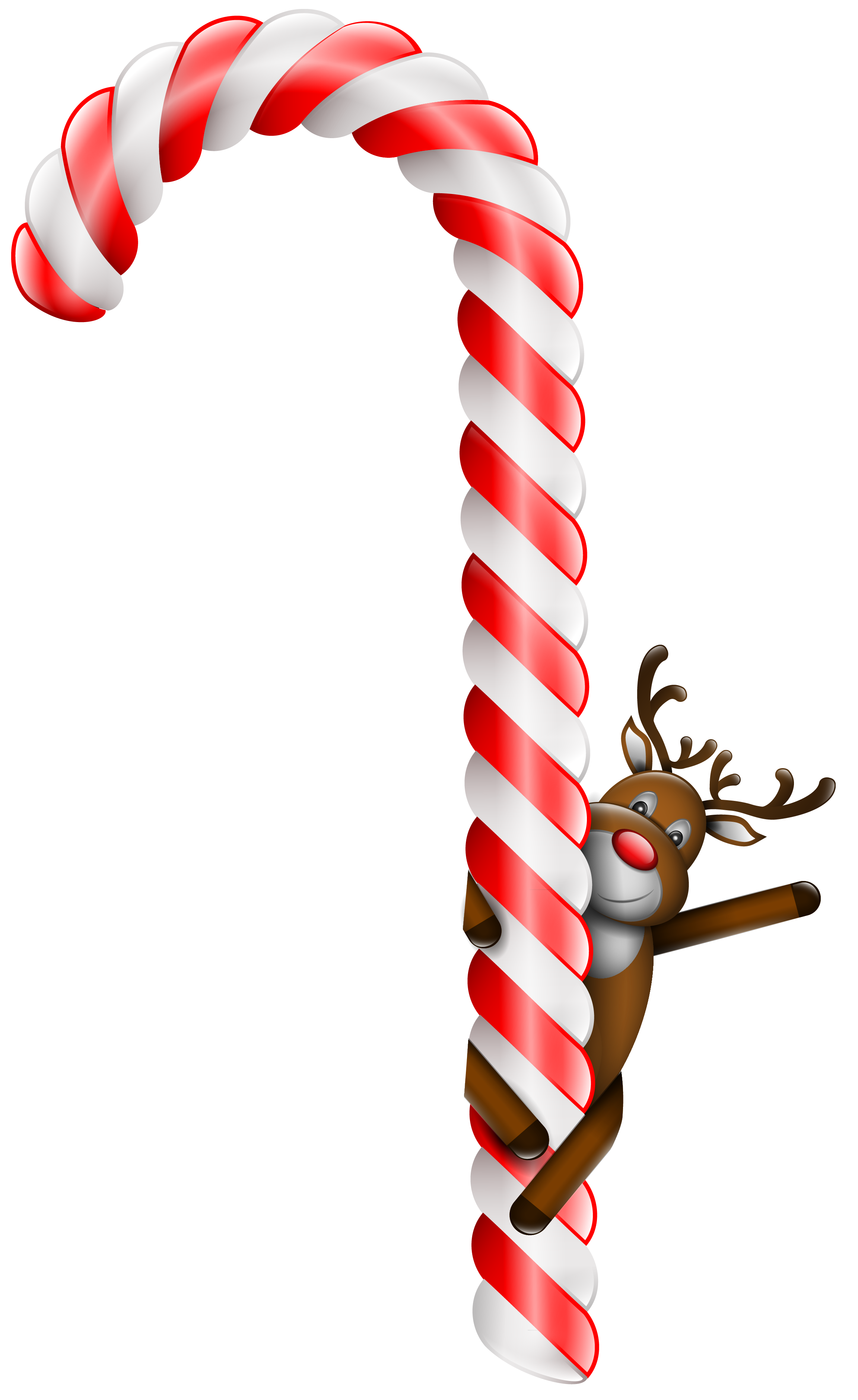 Transparent Large Christmas Candy Cane With Deer Png Clipart Christmas Candy Cane Christmas Candy Candy Cane Background