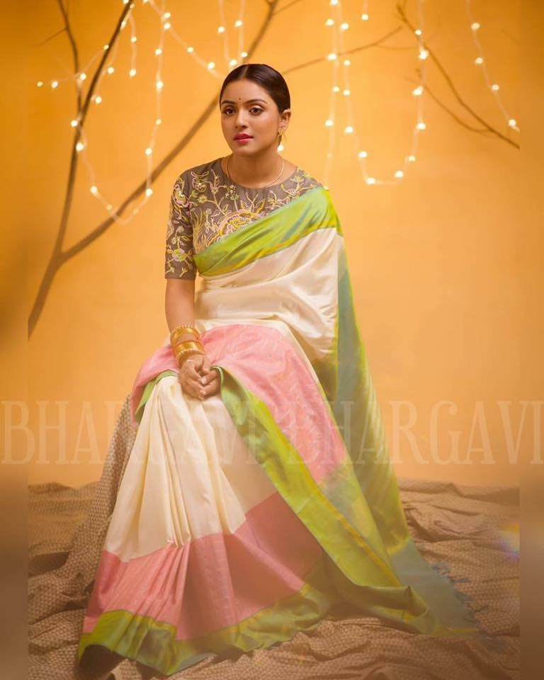 Robe indienne sari rose