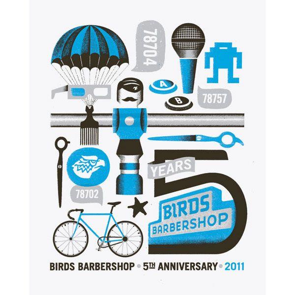 Support Local Business Keep Austin Weird Birds Barbershop Ad Via Bryan Keplesky 78704 Blue Poster Poster Prints Poster