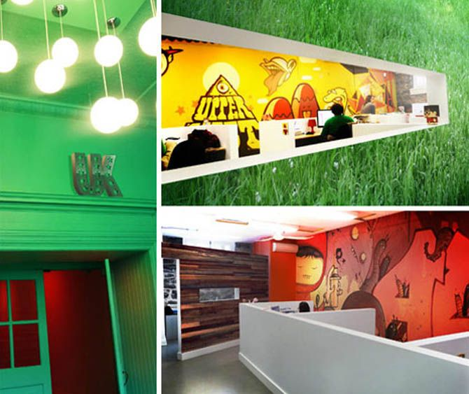 creativeofficewalldecalsdesignideas Creative Spaces