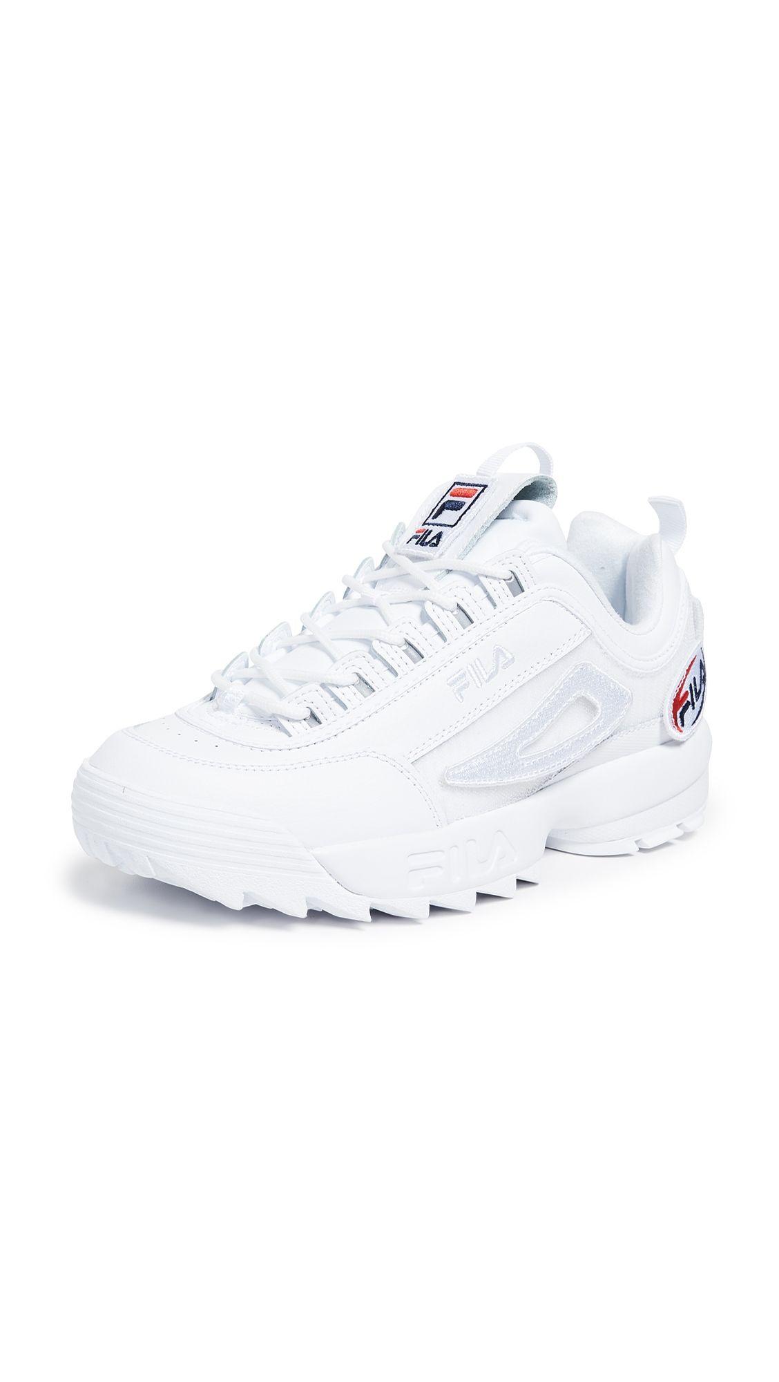 new concept 0e646 09ee2 FILA DISRUPTOR II CUSTOM PATCH SNEAKERS.  fila  shoes