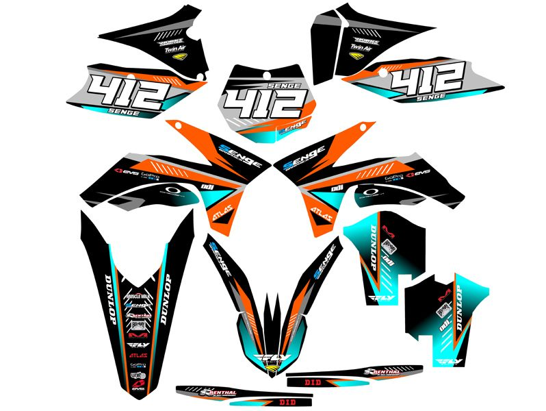 Fits Ktm 2011 2012 Sx 125 150 250 2 Stroke Graphics Kit Deco Decals Stickers Ktm Motorcycle Decals Motocross Decals