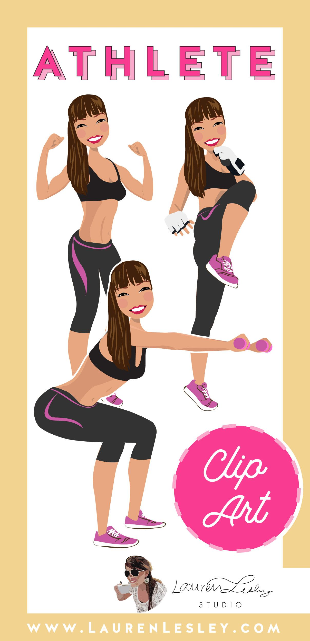 Athlete Clip Art Cuifen Personal trainer business