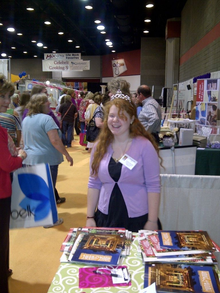 Katie the Princess of our Booth at the Southern Women's Show.