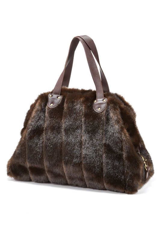 6d7a1f1c4110 Sable Faux Fur Weekender Bag