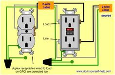 Wiring Diagram For A Ground Fault Circuit Interrupter Outlet