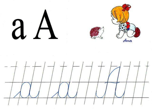 Literele A Mic Si A Mare De Mana Litere School Preschool Classroom