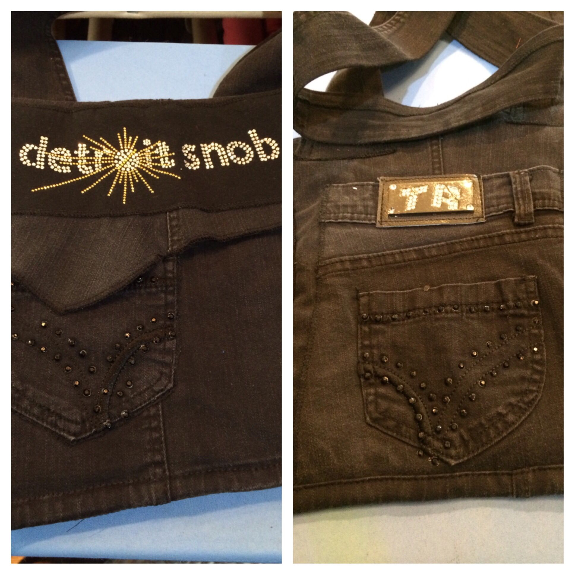 Detroit Snob denim crossover tablet bag!