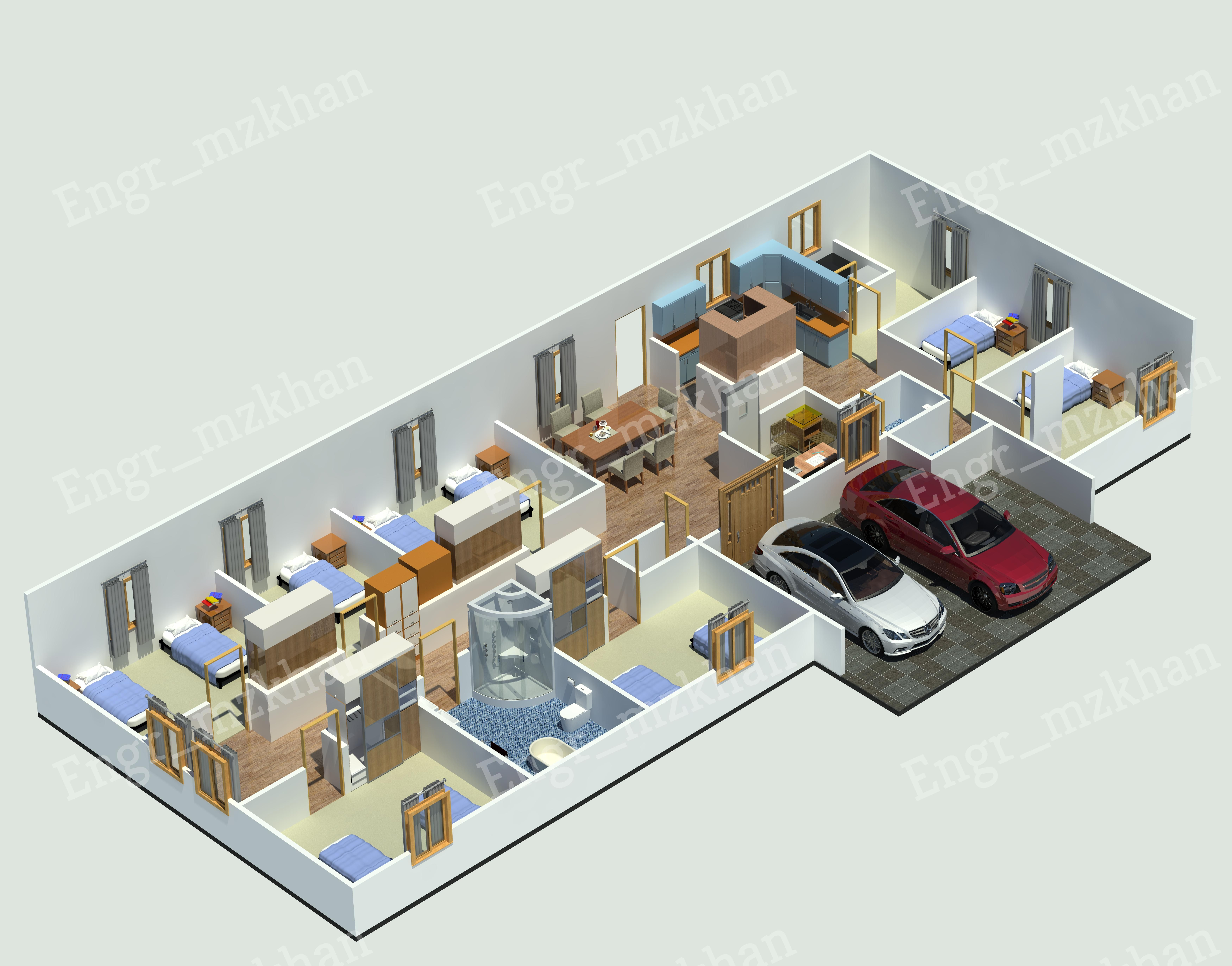 Engr Mzkhan I Will Design Architecture 2d And 3d Floor Plan 3d Visualization For 10 On Fiverr Com In 2020 Architecture Design Interior Architecture Design Floor Plans
