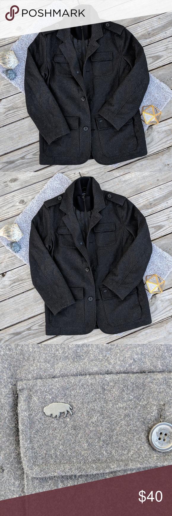 David Bitton Buffalo Outerwear Lined Coat M Outerwear Coat Lined [ 1740 x 580 Pixel ]