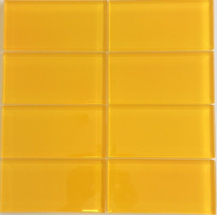 Modern Lush Warm Yellow Glass Subway Tile In Saffron. At Thick, Its Depth  Of Color Makes It A Stunning Choice For Shower Or Kitchen Backsplash Tile.