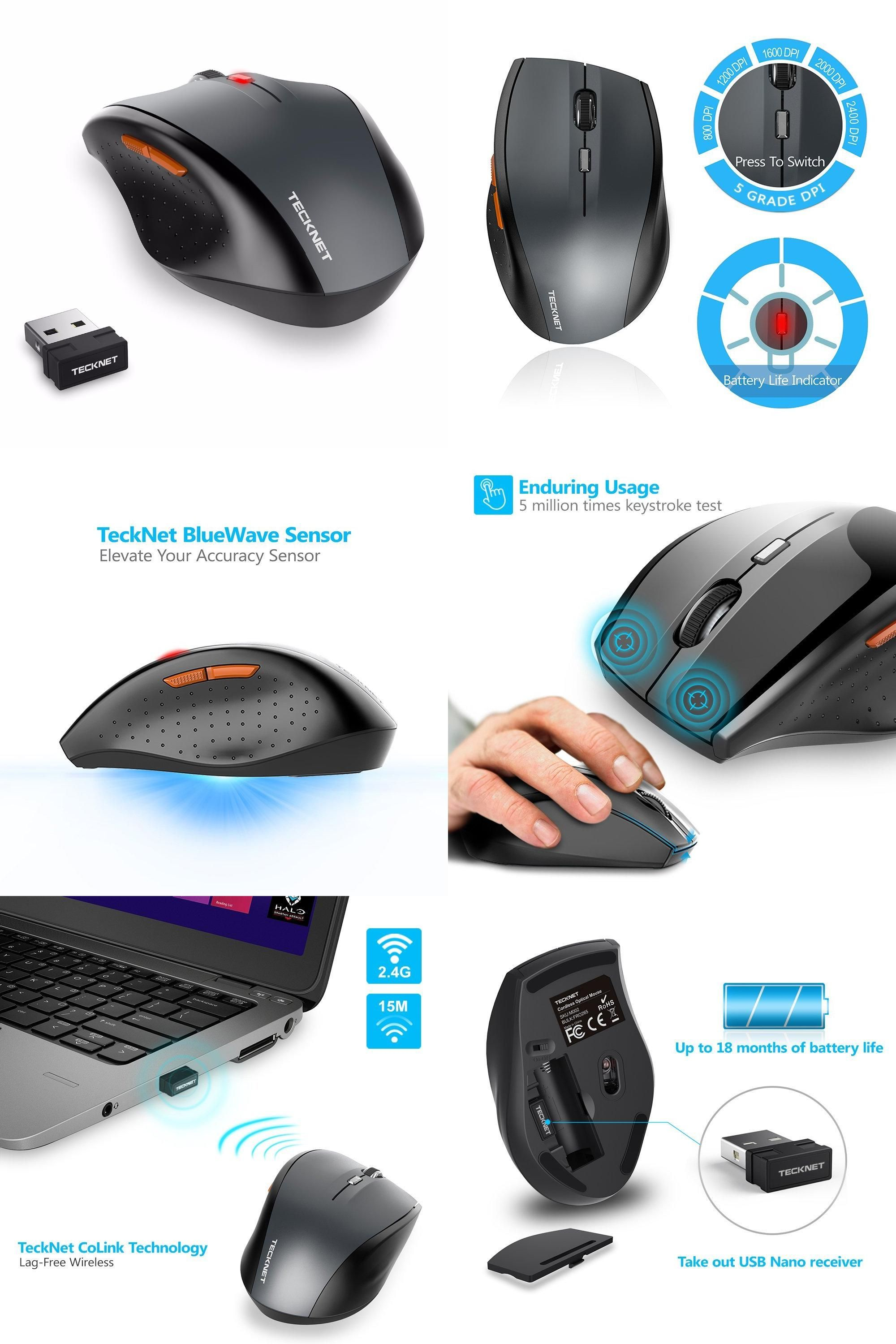 bae9b79bc58 [Visit to Buy] TeckNet M002 Nano Wireless Mouse,6 Buttons,18 Month Battery  Life,2000 DPI 3 Adjustment Levels-Grey #Advertisement