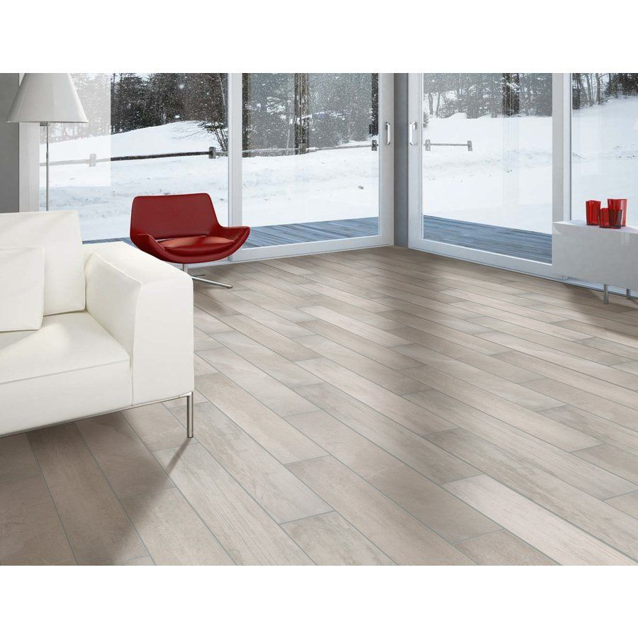 Shop faber 6 in x 36 in reclaimed wood porcelain matte bone floor shop faber 6 in x 36 in reclaimed wood porcelain matte bone floor tile doublecrazyfo Choice Image
