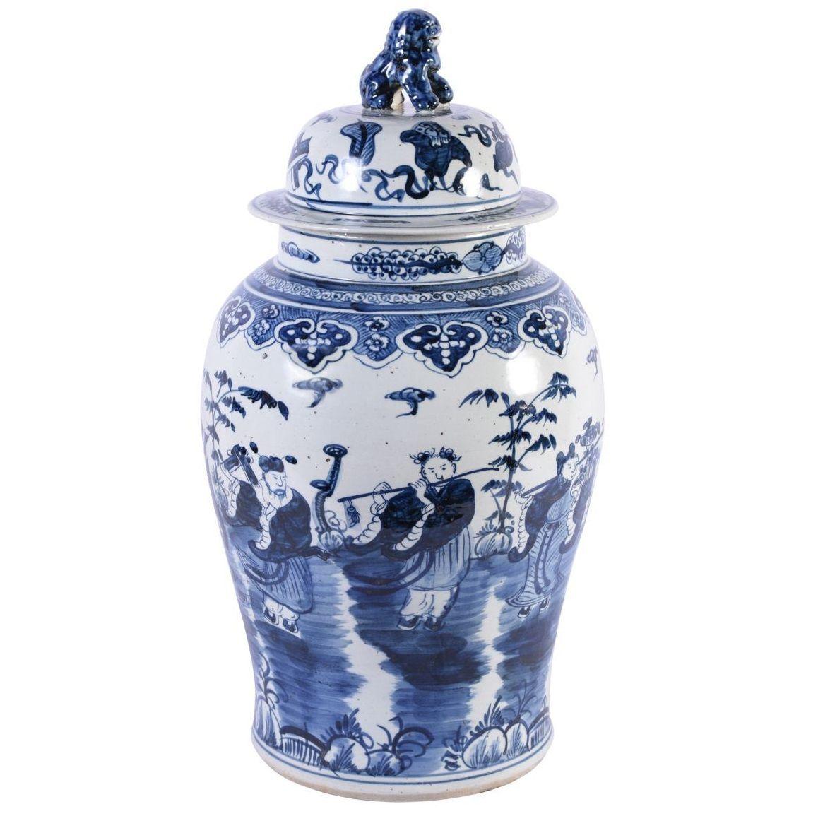 Pin Pa Blue And White Jar