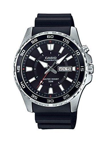 Casio Men s  Super Illuminator  Quartz Stainless Steel and Resin Casual  Watch fba6f23d10