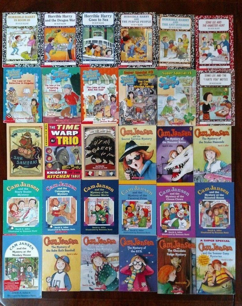 Lot Of 30 Chapter Books Grade 2 3 Ar Cam Jansen Jigsaw Jones
