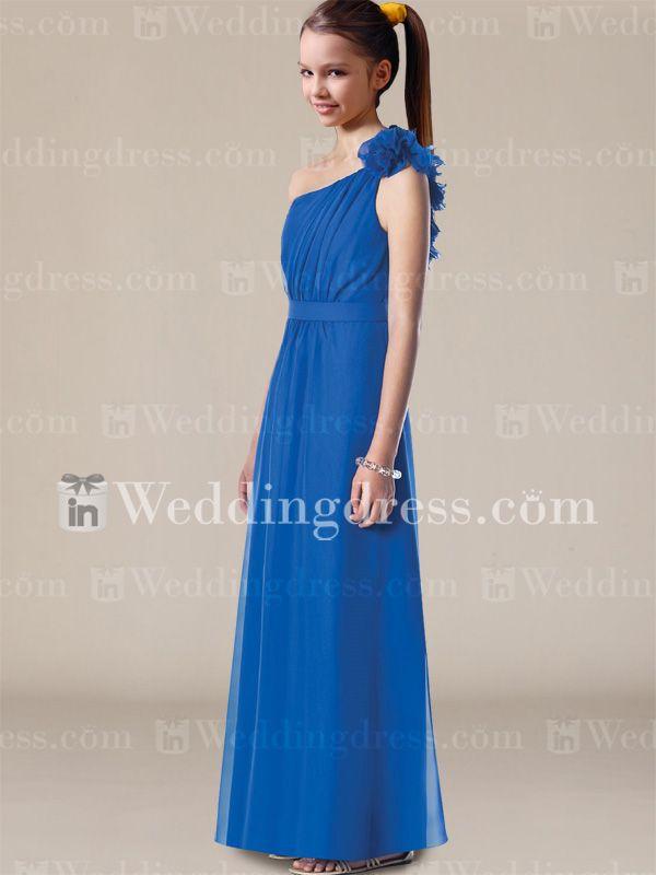 One Shoulder Junior Bridesmaid Dress JU036
