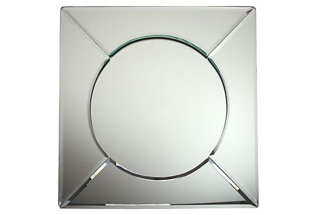 Mirror Square Charger On Onekingslane Com Mirror Charger Plates Mirror Table