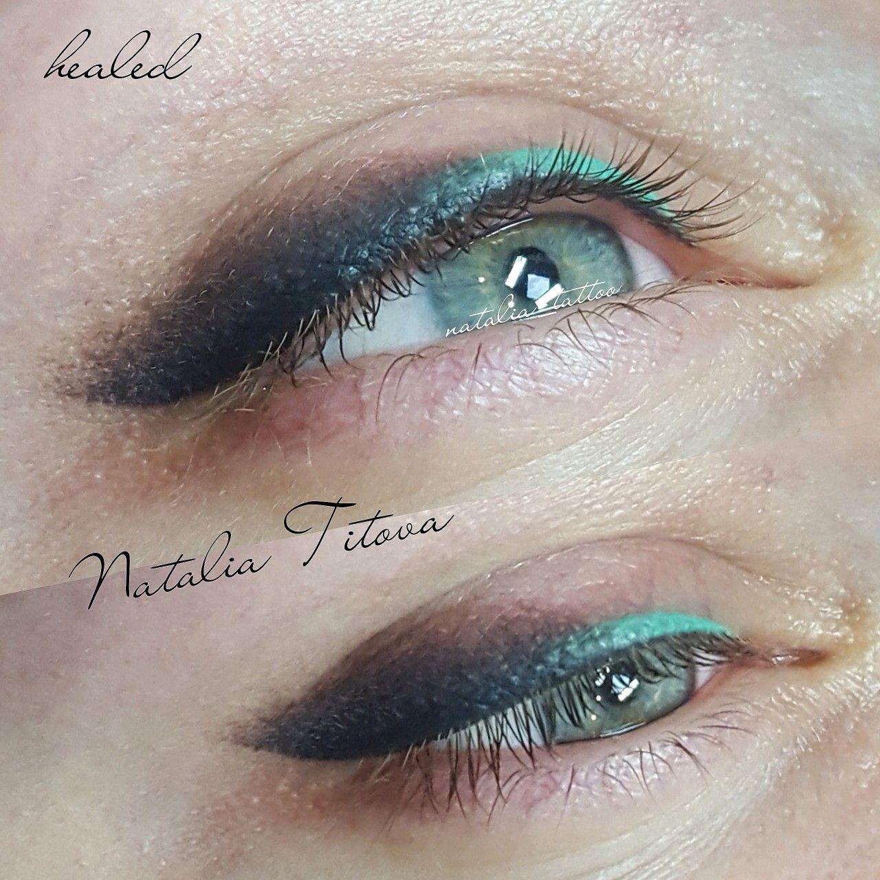 Зажившие стрелки с бликом ! Healed permanent makeup Eye
