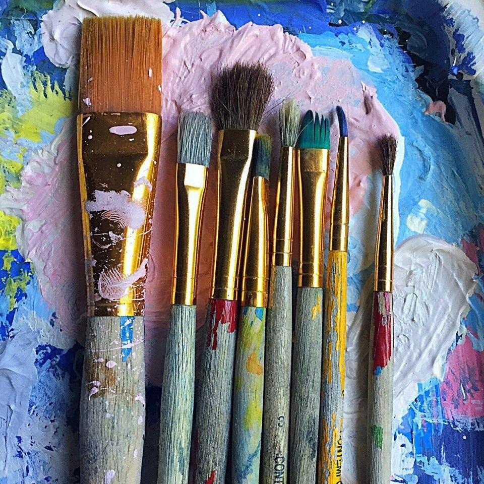 черепа картинки художники кисти краски любое