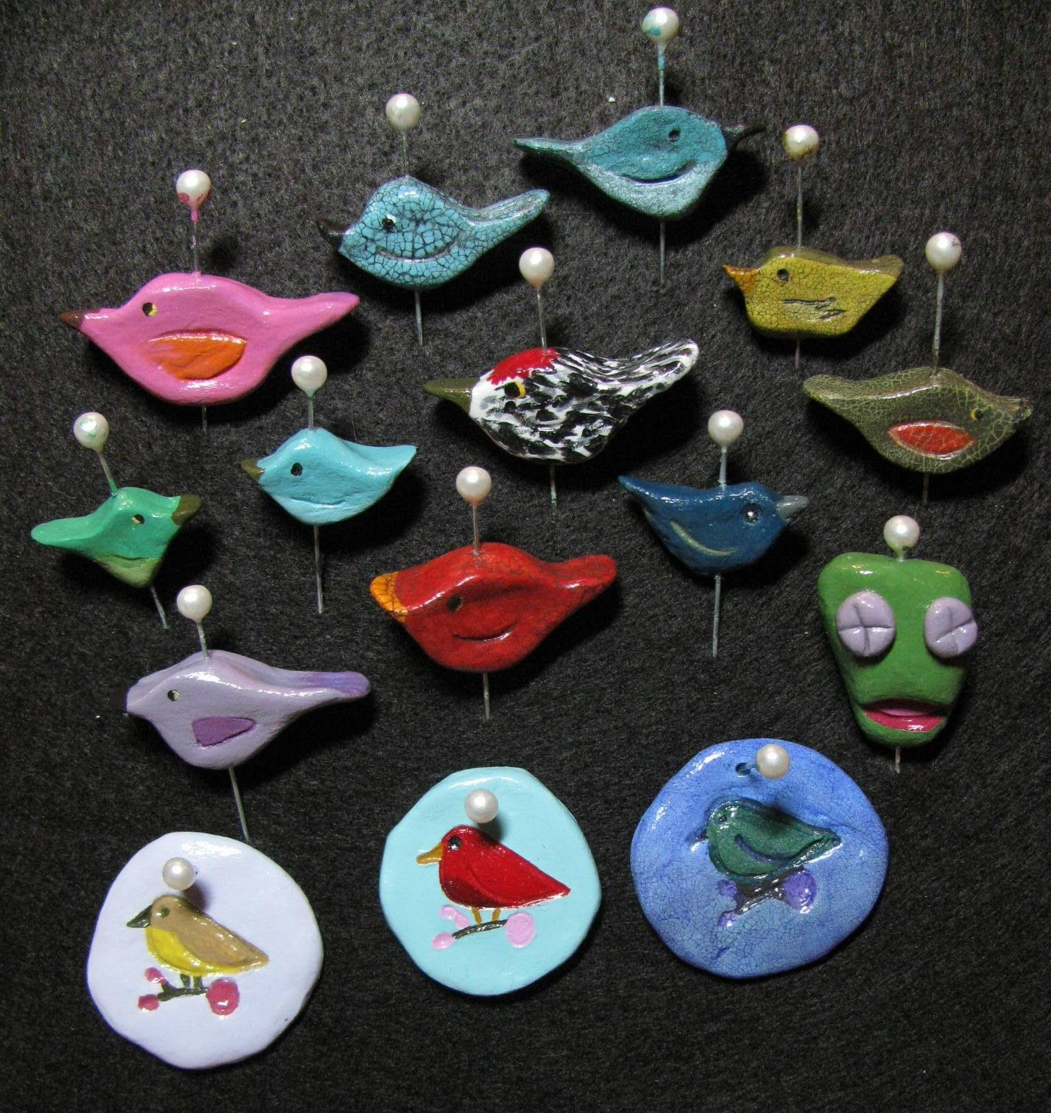 Ex Post Facto Jewelry: The Paper Clay Birds Are Finished